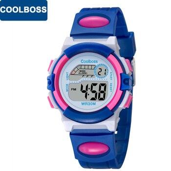 14d448070325 ... Nuevos relojes deportivos de marca COOLBOSS para niños reloj de pulsera Digital  LED para niños y niñas reloj de pulsera multifuncional para niños regalo