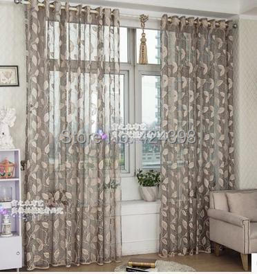 high quality morden grey beige gold sheer curtain for bedroom balcony living room window. Black Bedroom Furniture Sets. Home Design Ideas
