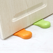 Baby Silicone Door Stop Anti-pinch foot shape Security Card