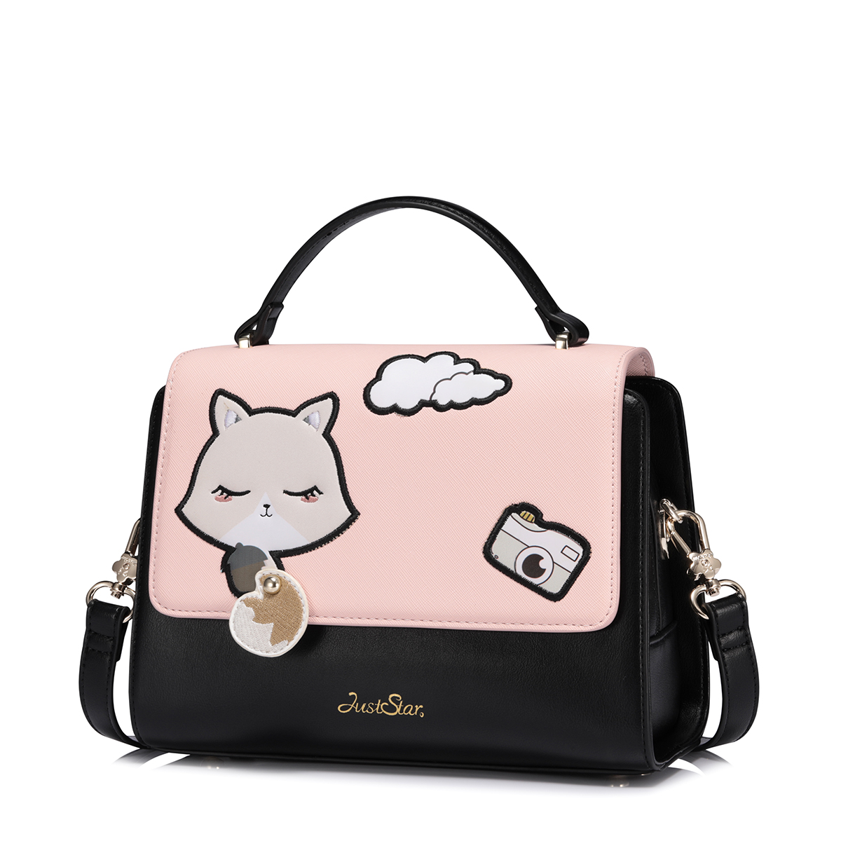 Just Star Animal Squirrel Purse Messenger Crossbody Shoulder Women Bag Clutch Female Handbags Sac a Main Femme De Marque Girls women small bag crossbody bag shoulder messenger bags leather handbags women famous brands bolsa sac a main femme de marque