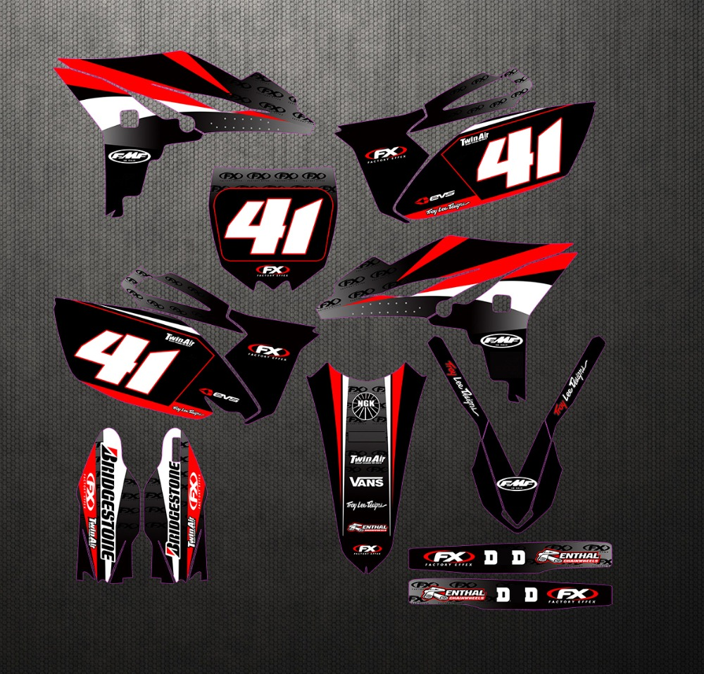 Adhesive Background Graphic Sticker For Yamaha YZ250F YZF250 YZ 250F YZF 250 2010 2011 2012 2013 Fork Fender Decals