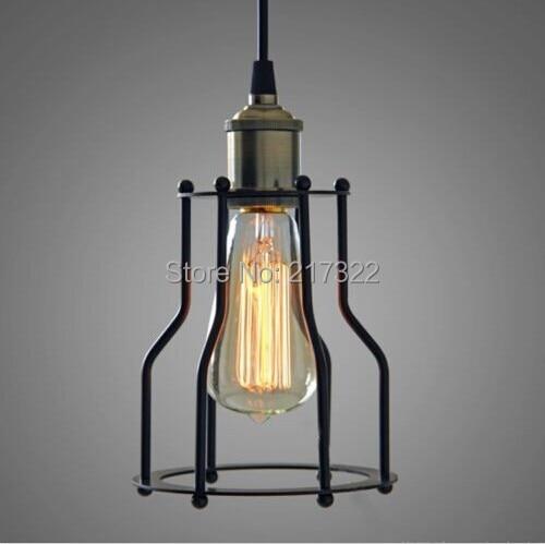 Black cable Unique American Style edison pendant Light,Vintae Bird Cage Decoration Pendant Lamp E27