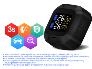 Image 4 - M3 Waterproof Motorcycle Real Time Tire Pressure Monitoring System TPMS Wireless LCD Display Internal or External TH/WI Sensors