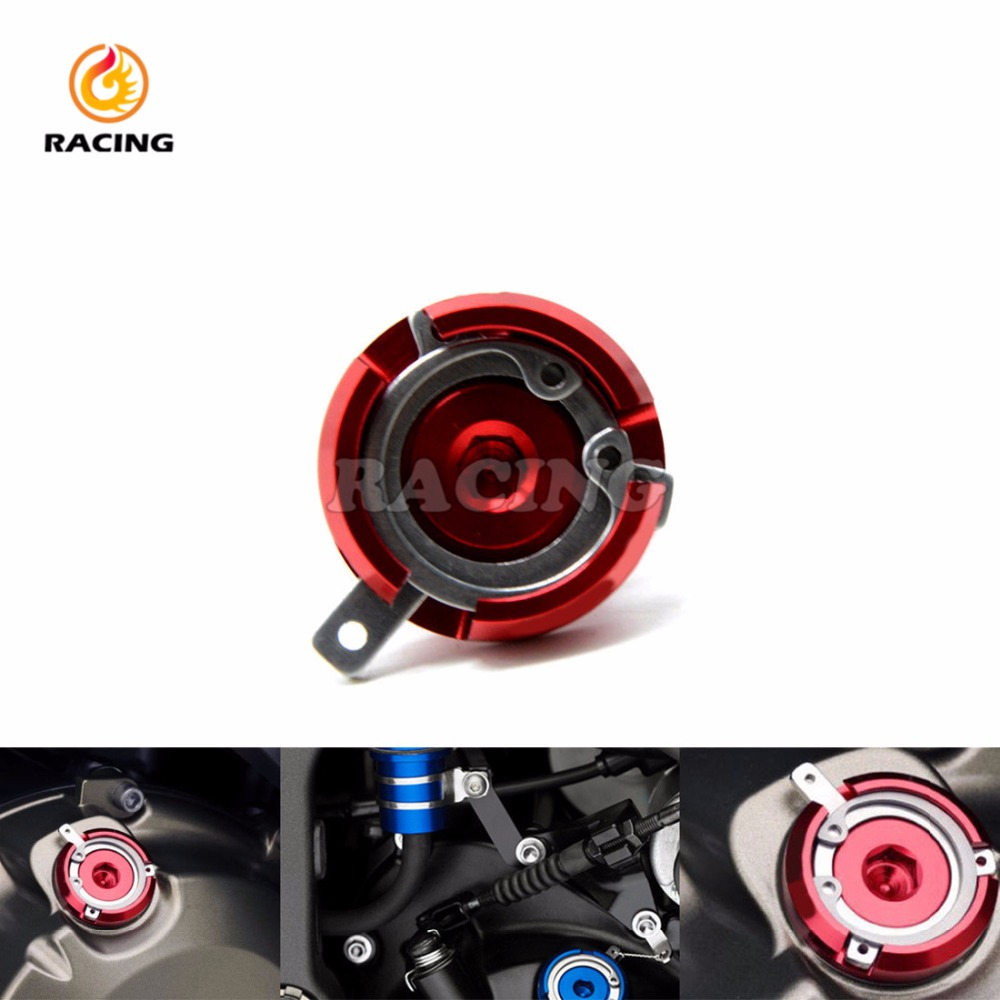 MotorbikeEngine Oil Cap Cover red Fuel Gas Tank Screw FOR YAMAHA T-MAX500 MAX500 T-MAX530 honda hornet 600 cb600f