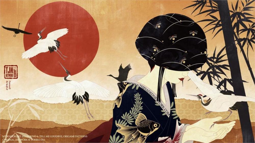 Kết quả hình ảnh cho japanese cranes painting