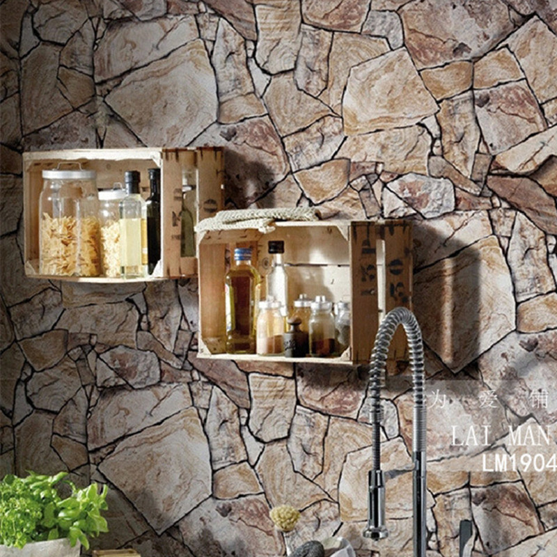 Www As Creation De 3d Stone Wallpaper Waterproof Coffee Wall Paper For