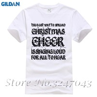 Best Way Spread Christmas Cheer Is Singing Loud Song Mens T Shirt Cotton Cool Design 3D
