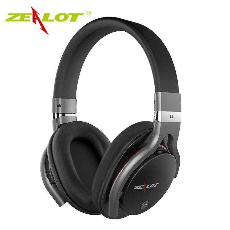 Zealot B5 Stereo Wireless Headphones Bluetooth 4.0 Headphone For Computer Headset For Computers 3.5mm TF Card Headset With Mic hlton portable 2 in 1 universal wireless bluetooth stereo headphone with mic support tf card headset for smartphone computer