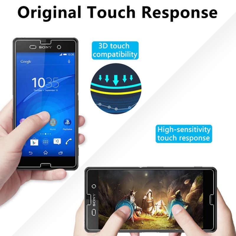 Toughed 9H HD Bảo Vệ Màn Hình Trong Cho Sony Xperia M5 M4 Aqua M2 M Bảo Vệ Kính Sony T3 T2 cực L2 L1 L Kính Cường Lực