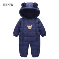 Winter Baby Rompers 2017 Baby Girls Boys Clothes Hooded Baby Boys Rompers Cotton Padded Jumpsuits Infants