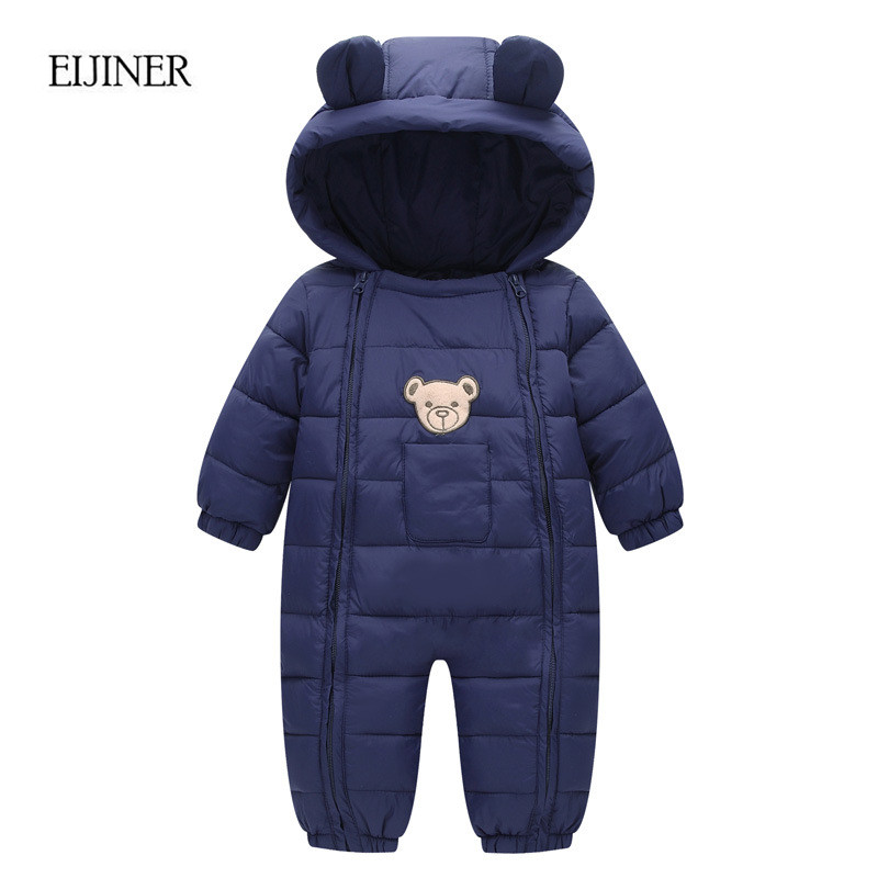 Winter Baby Rompers 2017 Baby Girls Boys Clothes Hooded Baby Boys Rompers Cotton-padded Jumpsuits Infants Kids Winter Clothes 6003 aosta betty baby rompers top quality cotton thickening clothes cute cartoon tiger onesie for baby lovely hooded baby winter