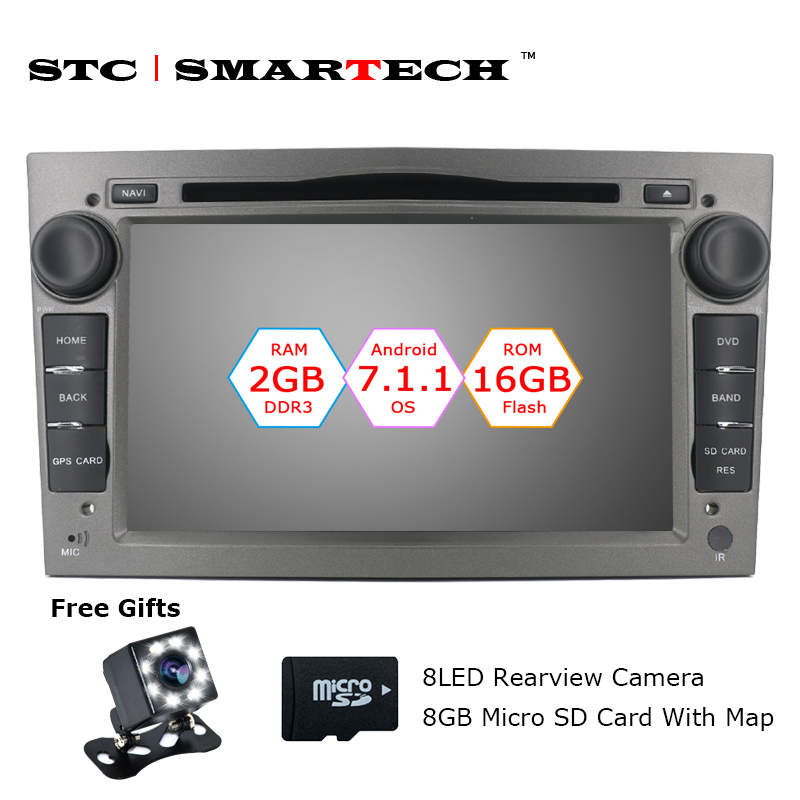 2 Din Android 7 1 2 OS Car DVD Player GPS Navigation For Opel Antara VECTRA
