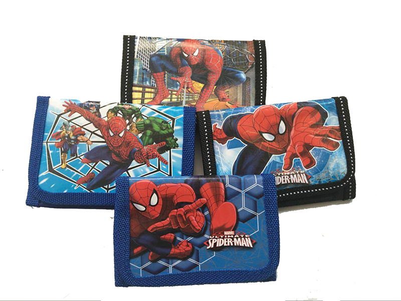 Wholesale 12Pcs Superhero Spiderman Purses Money Bag Coin Pouch Children Purse Small Wallet For Kids Party Supplies Gift 5 pcs lot cartoon anime wallet wholesale nintendo game pocket monster charizard pikachu wallet poke wallet pokemon go billetera