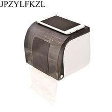 Home Paste Type Waterproof Paper Towel Box Free Toilet Roll Holder Punch Tissue Storage Organizer