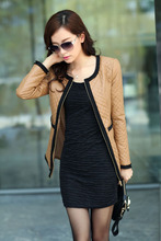 women jacket women winter coat New winter Korean fashion padded coat thin section of leather zipper free shipping