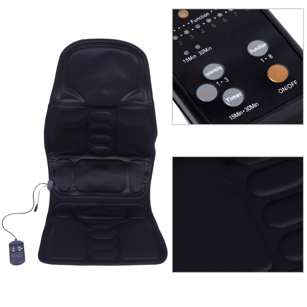 Makeup Makeup Tool Kits Electric Body Massage Chair Seat Car Vibrator Back Neck Lumbar Massage Cushion Relaxation Anti-stress Heat Pad