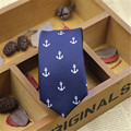 2016 LGFDT2     Men 6cm dot anchor print Narrow tie