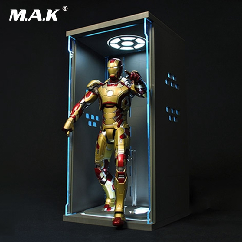 TOYS-BOX 1//12 Comicave SHF Iron Man MK25 Figure Model Dust-proof Display Box Toy