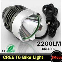 LED Bicycle Light HeadLight 2200 Lumens 3 Mode Waterproof Bike Front Light LED HeadLamp free shiping