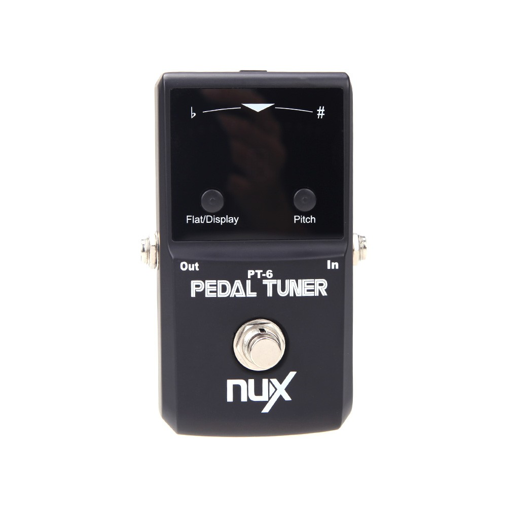 NUX Music Instrument PT-6 Chromatic Pedal Tuner With Metal Casing True Bypass Guitar Accessories boss audio tu 3 chromatic guitar and bass tuner pedal with bypass