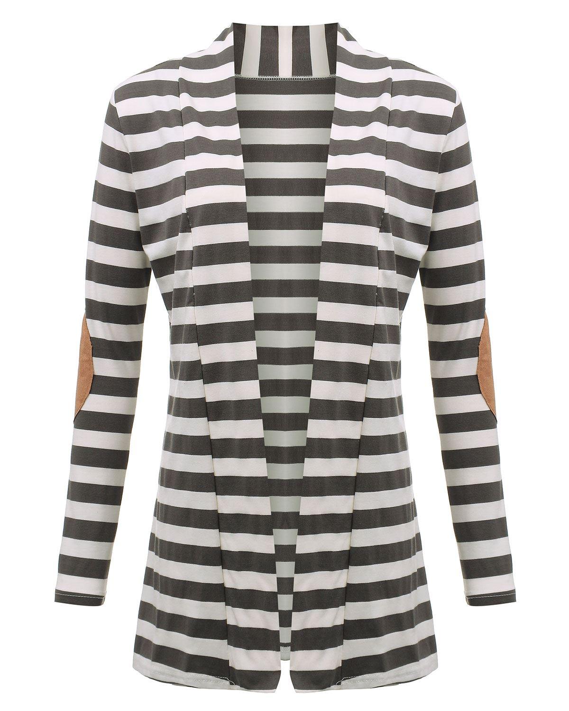 Jacke Plus Größe 2019 Frauen Strickpullis Gestreifter Mantel - Damenbekleidung - Foto 6
