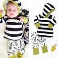 Девочка мальчик комплект одежды roupas де bebe с капюшоном sweatershirts + брюки Младенческой bebe девочка мальчик одежда sest малыш ткань мальчик НОВЫЙ