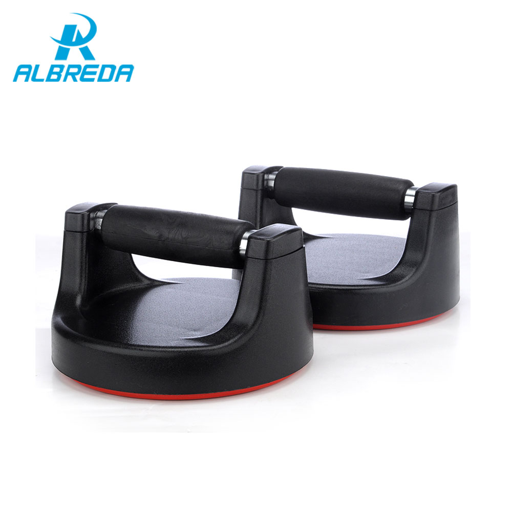 ALBREDA 1 Pair Non Slip Rotating Push Up Stand Bars Exercise Muscle Strength Bodybuilding Push up Stands Sport Fitness Equipment