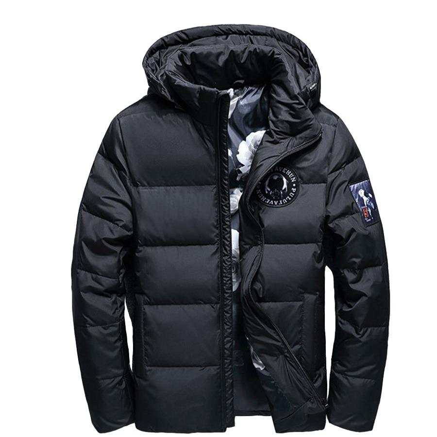 2019 aqueta masculina men   down   jacket Men hooded   down     coat   casaco masculino inverno Men Winter thin Duck Down183