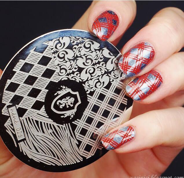 6*12CM 1Pcs XYZ Nail Stamping Plates DIY Image Nail Art Manicure Templates  Stencils Salon Beauty Polish Tools For Stamping 02#