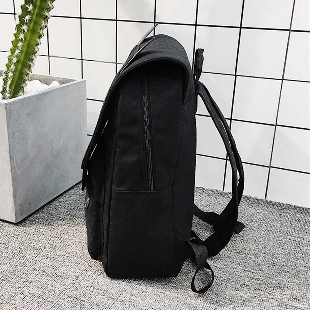 Bonito Dos Desenhos Animados Gato bolsa de Viagem Mochila de Lona Bordado Ombro Bagpack Sacos De Escola para Adolescentes Meninas Da Escola Mochila #38