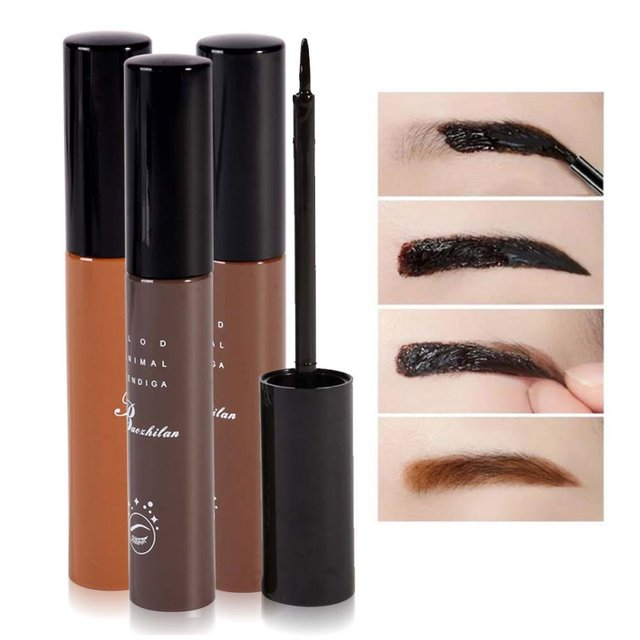 Mejor Precio Cosméticos de Maquillaje 3 Colores Impermeable Tinte de Cejas Mascara Crema Gel de Cejas Maquillaje Kit Que Sea Natural/gruesa