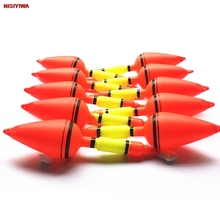 Wholesale 10 Pieces Plastic Fishing Float Stem Carp Plastic Fishing Float Tackle Tool Sea Floating Fishing Float Pesca Bobbers