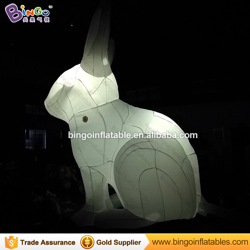 Giant Inflatable Rabbit 4.5 Meter High Moon Bunny with LED Light N Free Blower Inflatable Animal outdoor toy автоакустика pioneer ts q171c