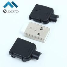 50 шт. USB Мужской Тип разъёма 4 P с Пластик корпус USB разъем для 5 В Мощность Зарядное устройство DIY