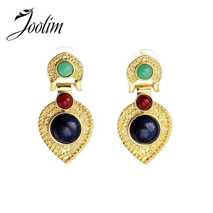 JOOLIM Jewelry Wholesale/ Folk Style Heart Earring