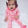 2016 Outono/Inverno Da Menina do Menino Macacão de Bebê Roupas de bebê Recém-nascido Elastic Fringe Padrão Bebê Macacão Roupas Crianças desgaste do Sono bebe