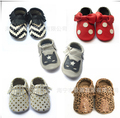 wholesale 50pairs/lot  leather baby girls shoes soft sole baby moccasins infant shoes kids 2016 toddler non slip newborn shoes