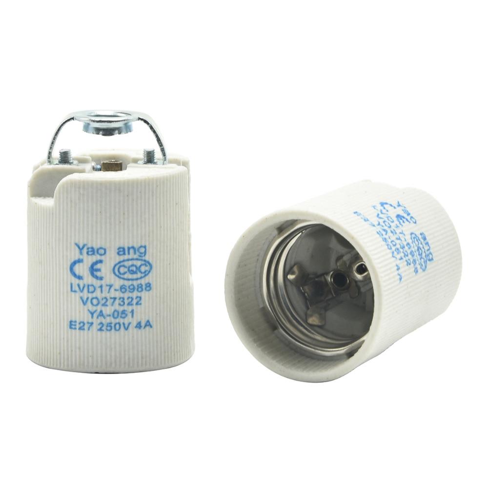 Základna žárovky E27 Keramická objímka žárovky Vysokoteplotní odolnost Držák žárovky L27 Základna lustrové žárovky Dobrá kvalita 10PCS / Lot