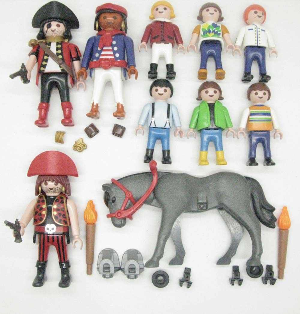 10PCS Playmobil Geobra pirate build worker Horse loose Figure A74W