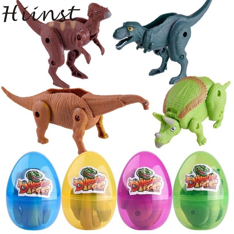 Миниатюрный деформируется динозавр подарок для детей игры моделирование Юрского игрушка модель деформируется яйцо коллекции для детей ov15 ...