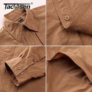 Image 5 - TACVASEN Mens Brand Tactical Airsoft Clothing Quick Drying Military Army Shirt Lightweight Long Sleeve Shirt Men Combat Shirts