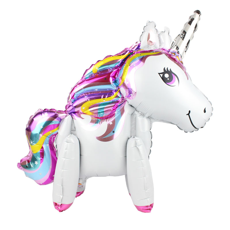 3D Stand Unicorn Foil Balloons Wedding Decorations Birthday Party Decorations Kids Inflatable Toys Unicorn Party For Baby Shower