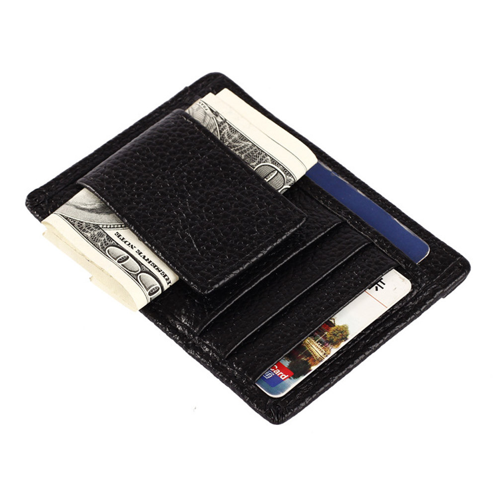 2017 Hot Sale Gold Brand Men's Wallet Credit ID Card Holder Genuine Brown and Black Colors Slim Purse Gift Free Shipping#6042201 hot sale 2015 harrms famous brand men s leather wallet with credit card holder in dollar price and free shipping