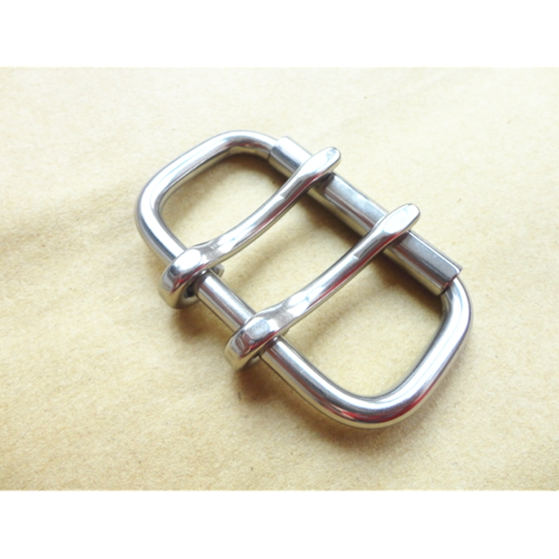 Bag Fasteners 60mm Stainless Steel Buckle For Weightlifting Belt Buckle With Roller Matel Buckl With Double Pin  Belt Fastener