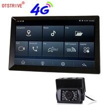 Otstrive 9 дюймов Android автомобильный Грузовик Автобус gps навигация Bluetooth телефон WiFi Full HD 1080P DVR двойной объектив камера заднего вида gps DVR
