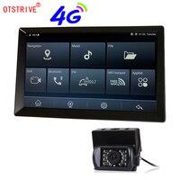 Otstrive 9 дюймов Android автомобиль Грузовик Автобус gps навигации Bluetooth телефон Wi Fi Full HD 1080 P DVR двойной объектив заднего вида камера gps DVR