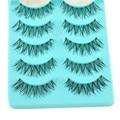 5 Pairs Lote Preto Beleza Natural Grosso Cílios Falsos Volumosa Maquiagem Dos Olhos Falso Lashes Extensão Macio Longo Artesanal