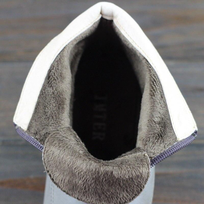 100 Zip Weibliche k18 Vintage Auf Stiefel Stiefeletten Slip Damen Grey Chelsea Leder Echtem Botines Frau Frauen Schuhe Y6ngpS5
