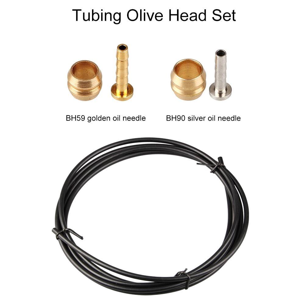 GUB Brake Tubing Bicycle Disc Brake Olive Set BH59 for Shimano M355/395/446/615 Tubing Set BH90 for M595/596/615/DEORE