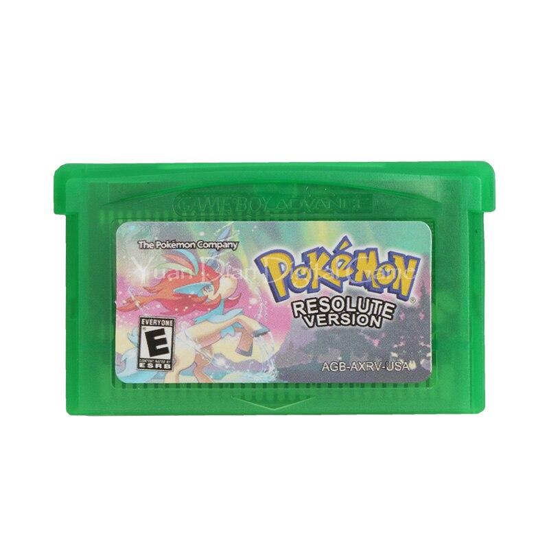 Nintendo GBA Video Game Cartridge Console Card Pokemon Series Resolute English Language Version